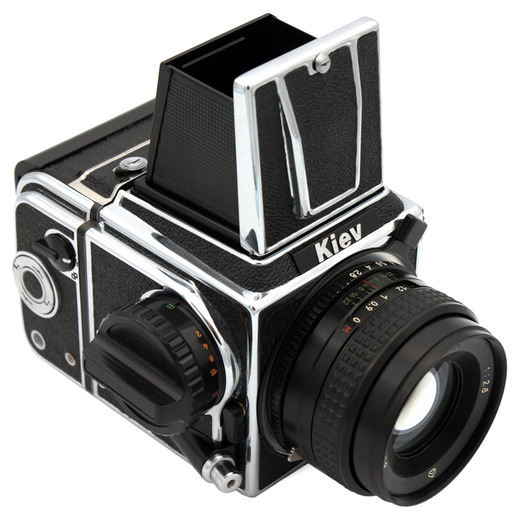 Kiev 88CM MLU (chrome) camera WLF - front