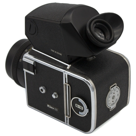 Kiev 88M (chrome) camera TTL - rear